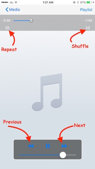 Music Player iPhone