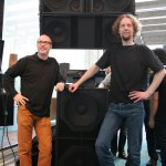 Tom Back with Philip 'Dr.Phil' de Haan, head of Alcons Audio R&D