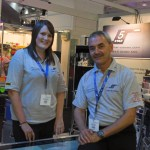 Photo shows 5 Star's MD Keith Sykes with Helen Coombes at PLASA 2011