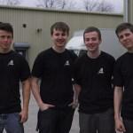 L to R    Josh Owens , Arron Hatcher , Johnny Orme  and Jack Miller  – some of Adlib's current Apprentices