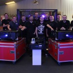 Photo shows : Some of CPL's staff and crew with the new Panasonic projectors