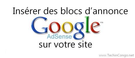 Inserer les annonces Google-adsense