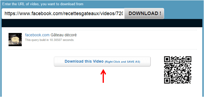 Download and Save Facebook video