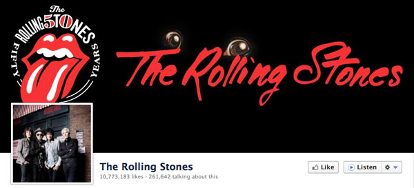 The Rolling Stones Facebook Page