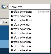 Firefox Search Dropdown