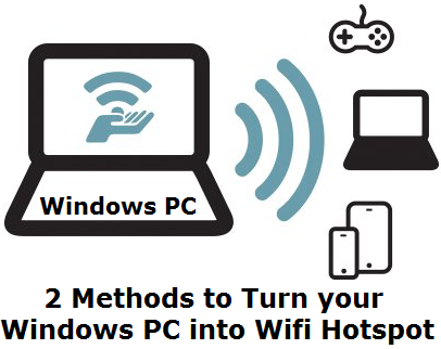 How to Turn windows pc into wifi Hotspot & Share Your Internet Connection