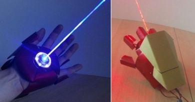 Iron Man laser glove powerful  burn through things