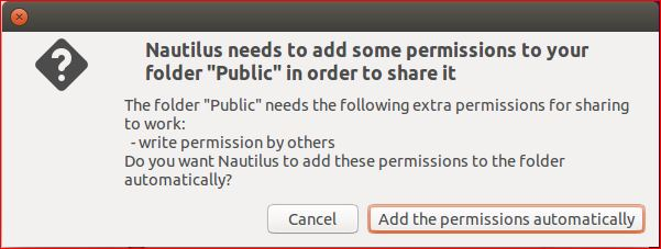 Add the Permissions automatically