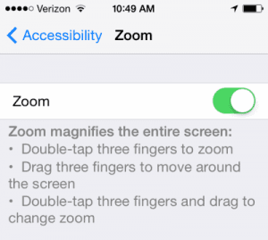 iPhone or iPad: Screen Appears Too Big or Zoomed In Too Much
