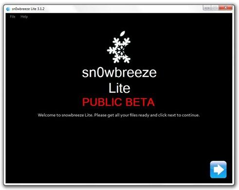 sn0wbreeze Jailbreak and Unlock iPhone 3.1.2 using Sn0wbreeze (Snowbreeze)