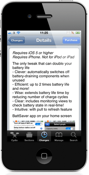 BattSaver for iOS 5