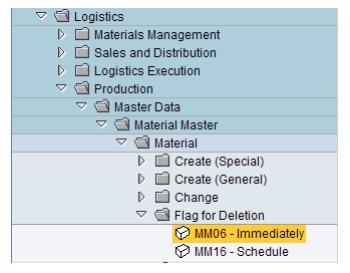 SAP PP Material Master