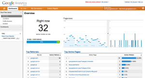 google analytics , google analytics getting realtime access