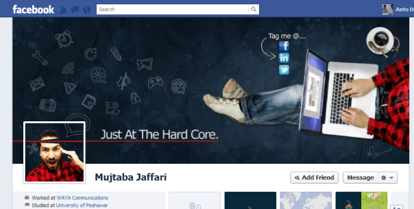 15 cool facebook timeline cover designs that will blow for Design ideas facebook