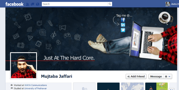 Cool Facebook timeline cover design by Mujtaba Jaffari