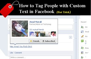 How to Tag People with Custom Text in Facebook (hot trick)
