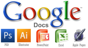 Google docs use photoshop , powerpoint , word and pdf files