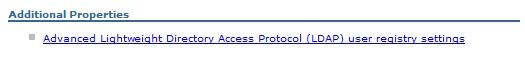LDAP Security Settings WebSphere