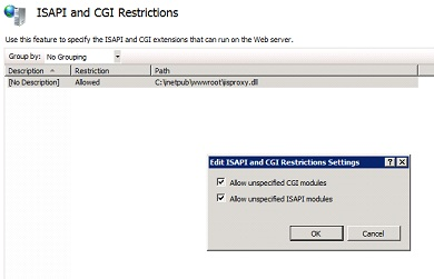 ISAPI AND CGI Restrictions