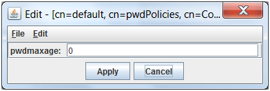 Ldap browser modify maxage pane