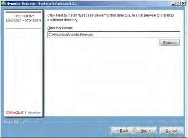 Essbase server directory