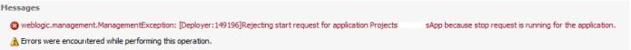 weblogic deployer error