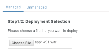 WildFly Deployment Selection