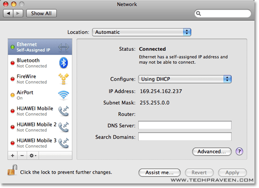 Get Network IP Address in your Mac OS