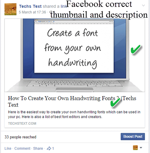 How to fix Blogger Facebook Thumbnail Description Problem