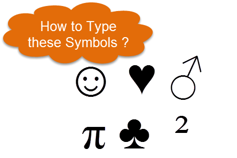 How to type ASCII Characters / Special characters using Keyboard