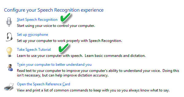Speech-recognition-configuration