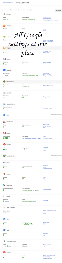 Google-dashboard-settings