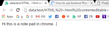 NotePad-in-Chrome-Browser