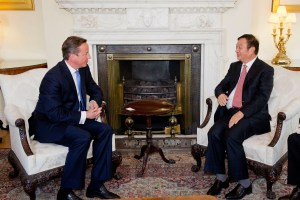 HUAWEI DAVID CAMERON AND REN ZHENGFEI
