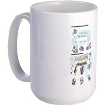 Large Mug With Cloud Computing Graphic Mugs
