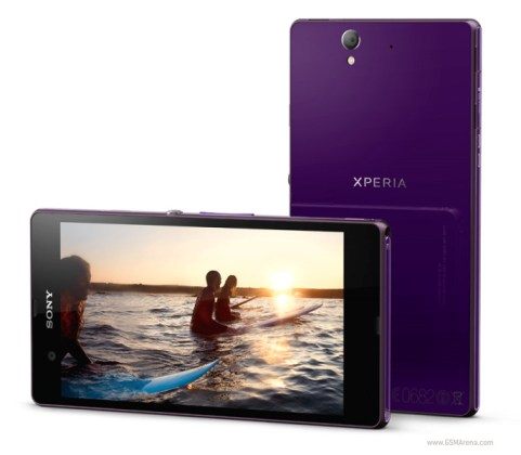 Sony Xperia Z front and Back
