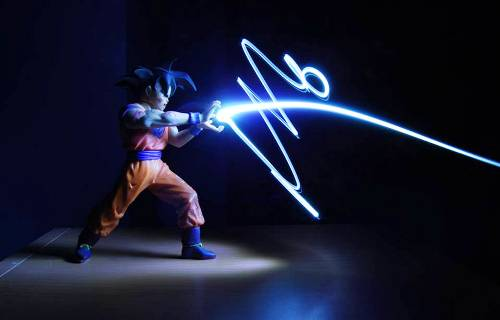 Light Painting Photography - Goku Attack