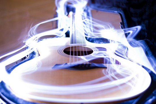 music guitar - Light Painting Photography