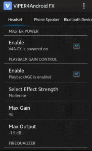 Increase default volume of android device
