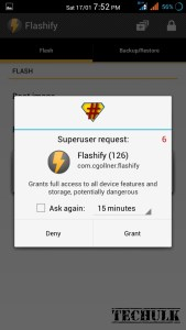 Flash recovery without pc