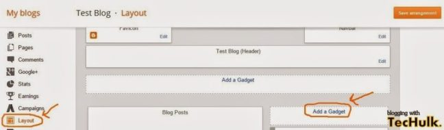 Add about me on blogger