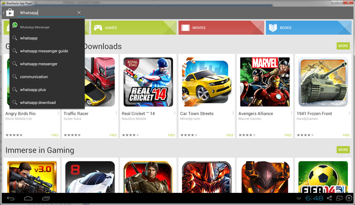 search-for-whatsapp-on-bluestacks-app-player