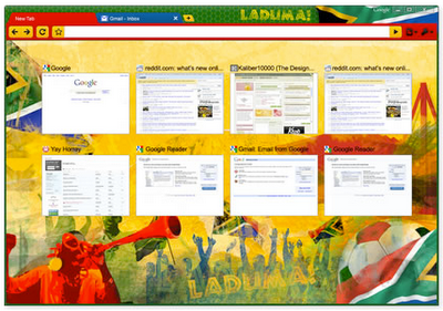Chrome themes for world cup