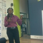 Dorothy Ooko presenting Create for millions presentation