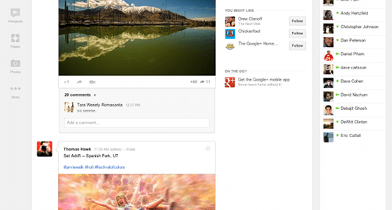 Google Plus redesign