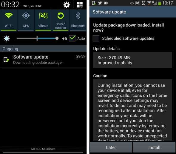 Galaxy S 4 Stability Update
