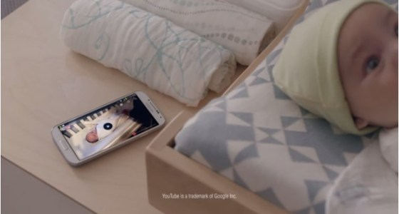Samsung Galaxy S 4 Swaddle ad