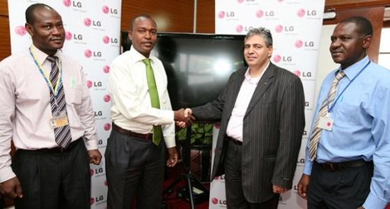 LG donates screens JKIA