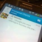 Blackberry Messenger BBM for Android echenze