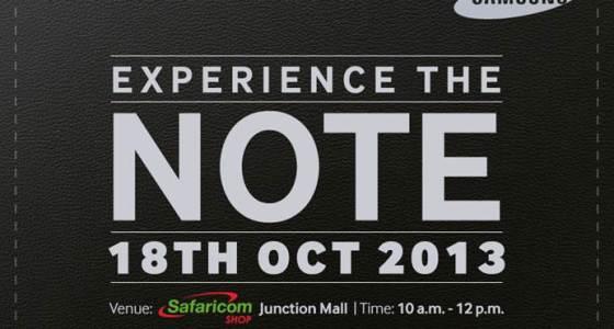 galaxy note 3 safaricom launch